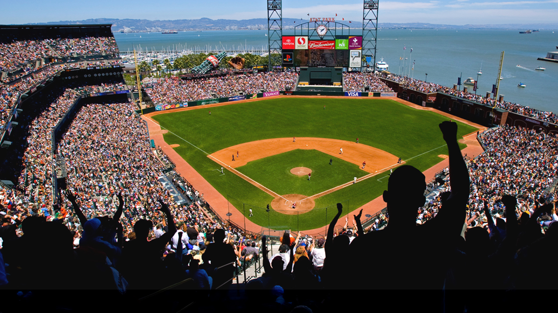 A Giants game at AT&T Park