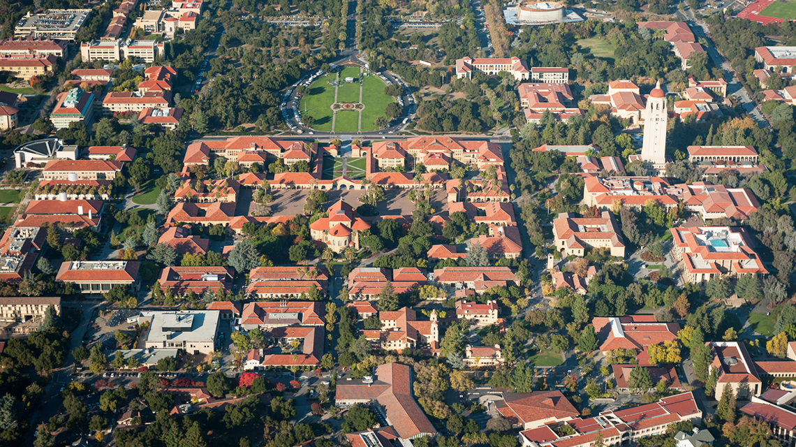 Aerial photo of Stanford campus