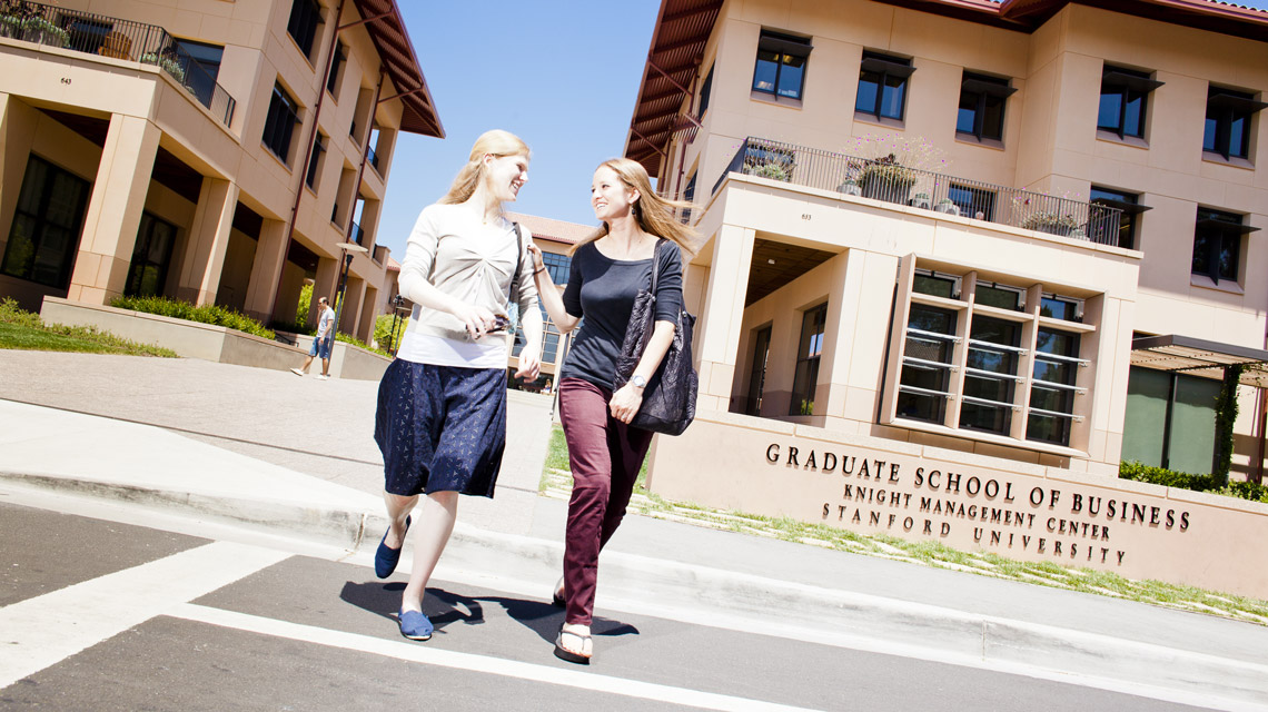 Female students at Knight Management Center