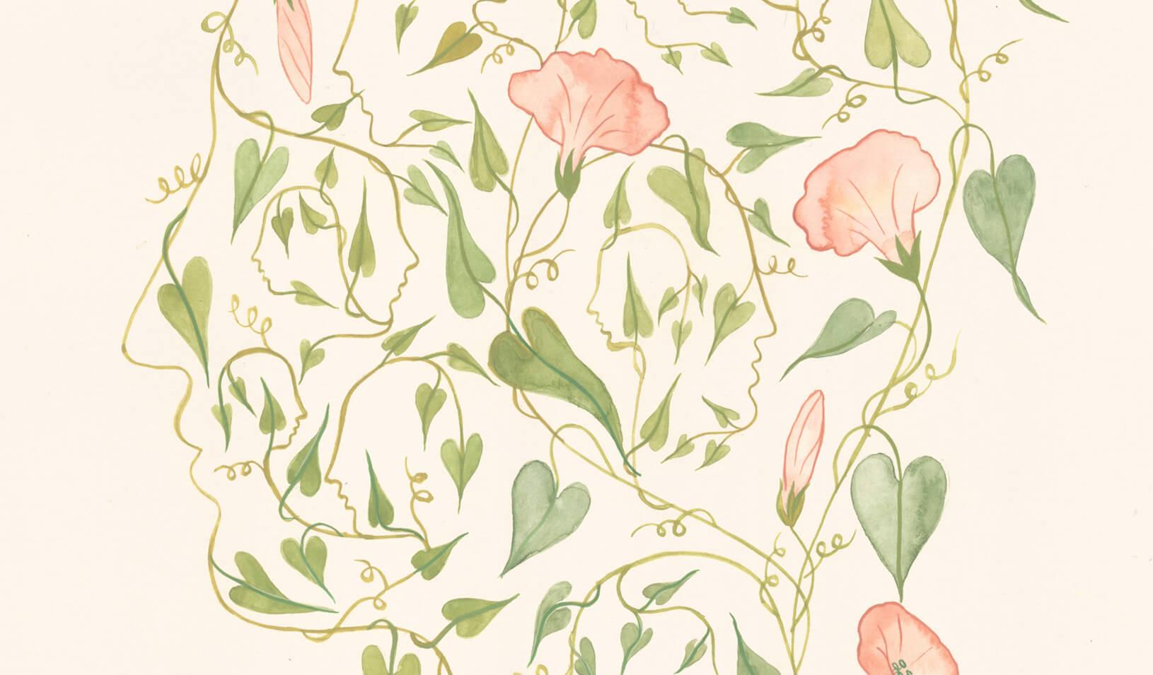 Flowers on a vine | Illustration by Harriet Lee-Merrion