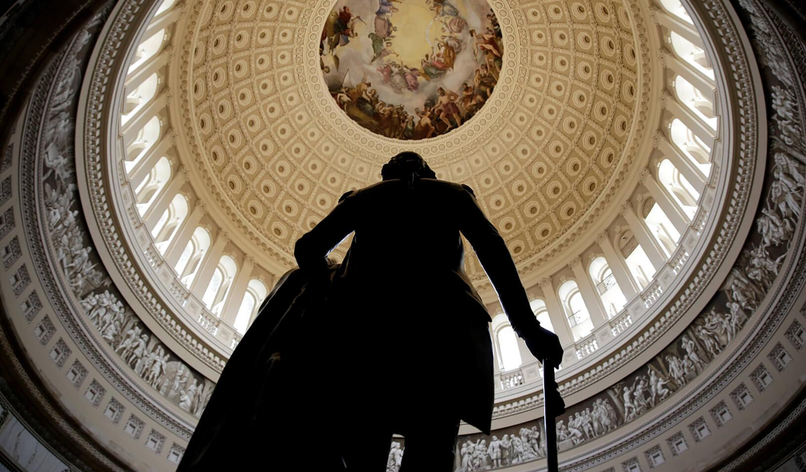A statue of George Washington | Reuters/Joshua Roberts