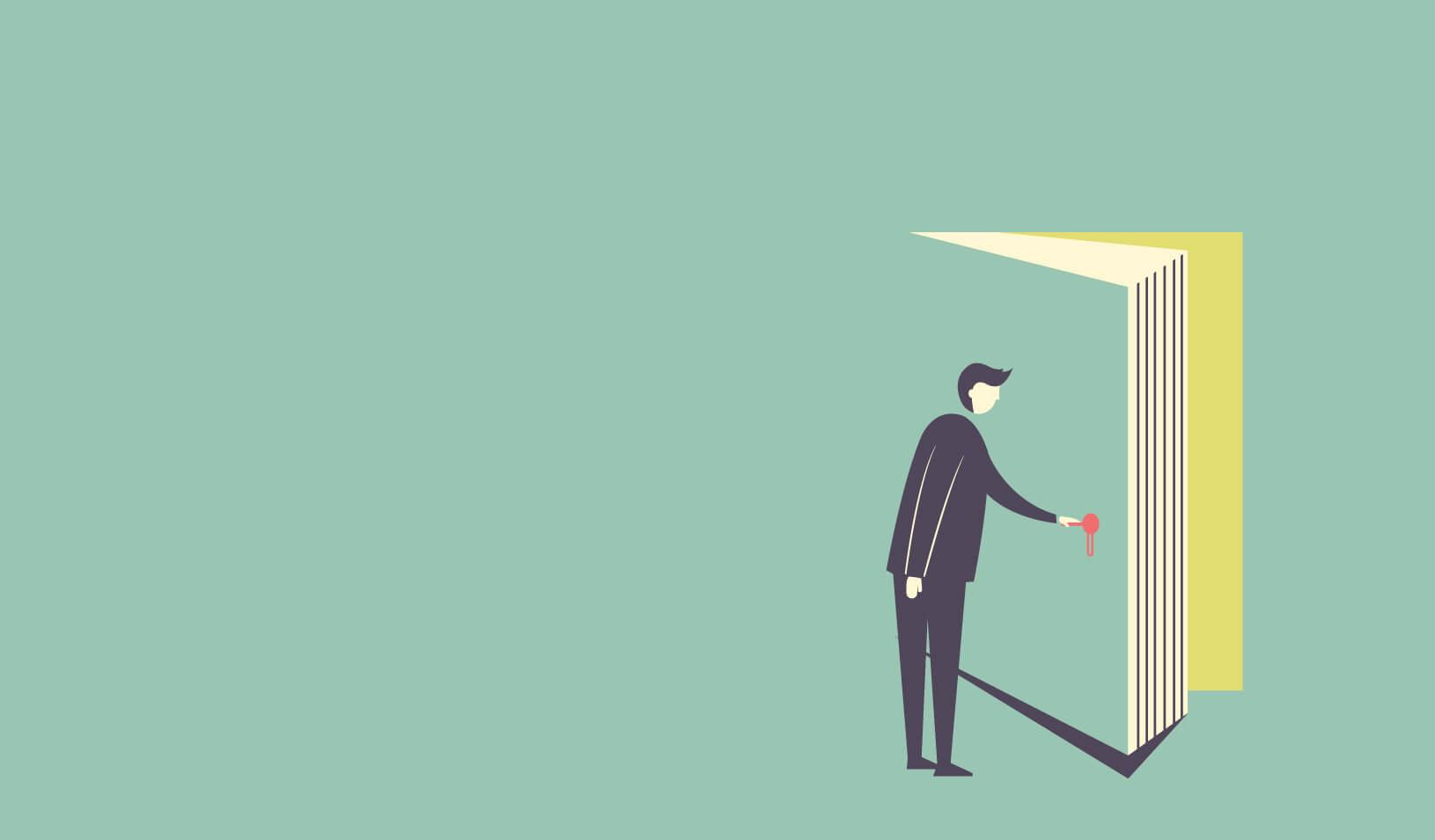 illustration of man opening a door  sc 1 st  Stanford Graduate School of Business - Stanford University & Strong \u201cSignature Stories\u201d Can Shape More Than a Company\u0027s Brand ...
