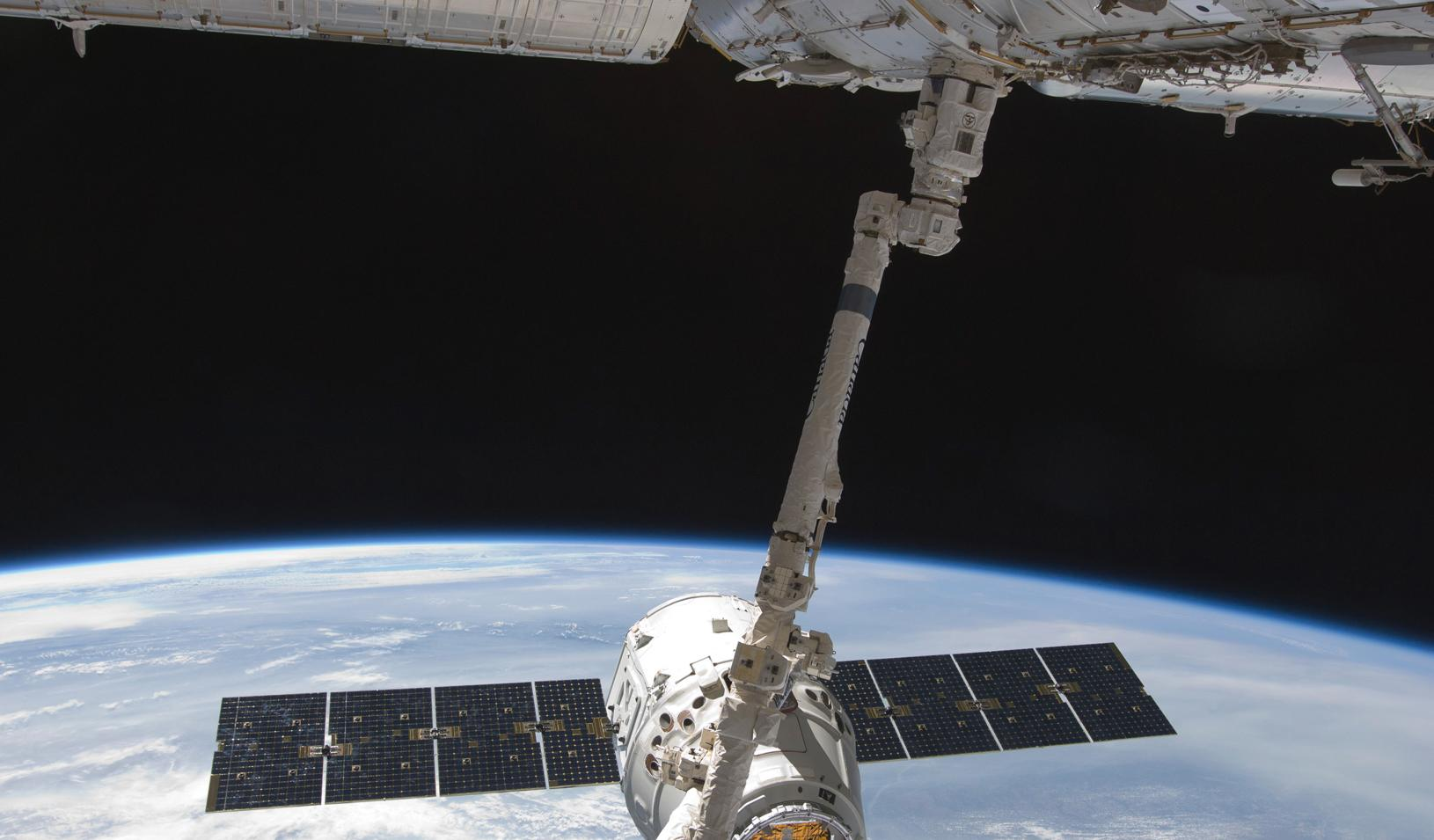The SpaceX Dragon commercial cargo craft and International Space