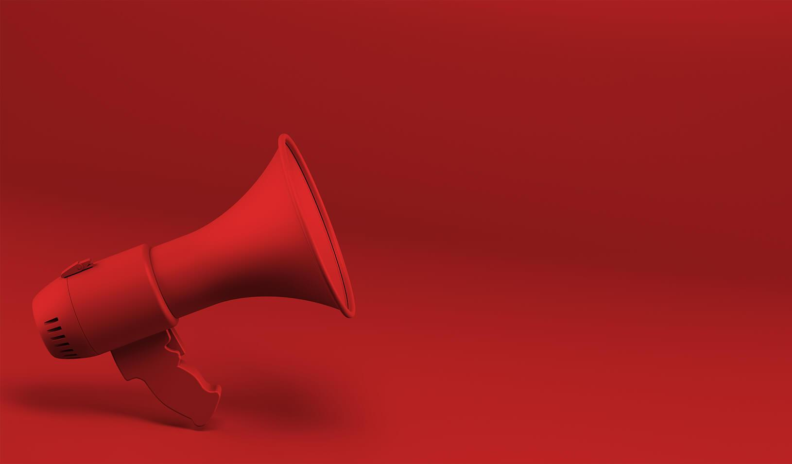 A photo-illustration of a megaphone. Credit: Murat Göçmen
