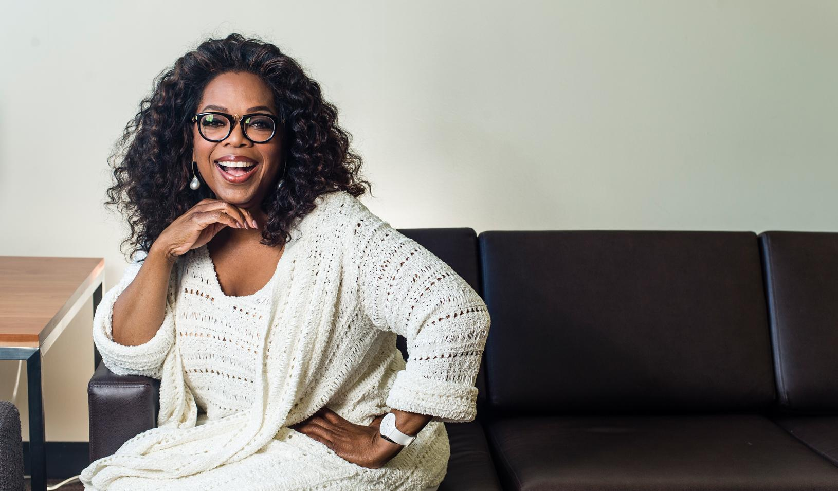 "Oprah Winfrey ""Align Your Personality With Your Purpose Photo Oprah Sitting Couch  Oprah Winfrey Align Your Personality Your Purpose"