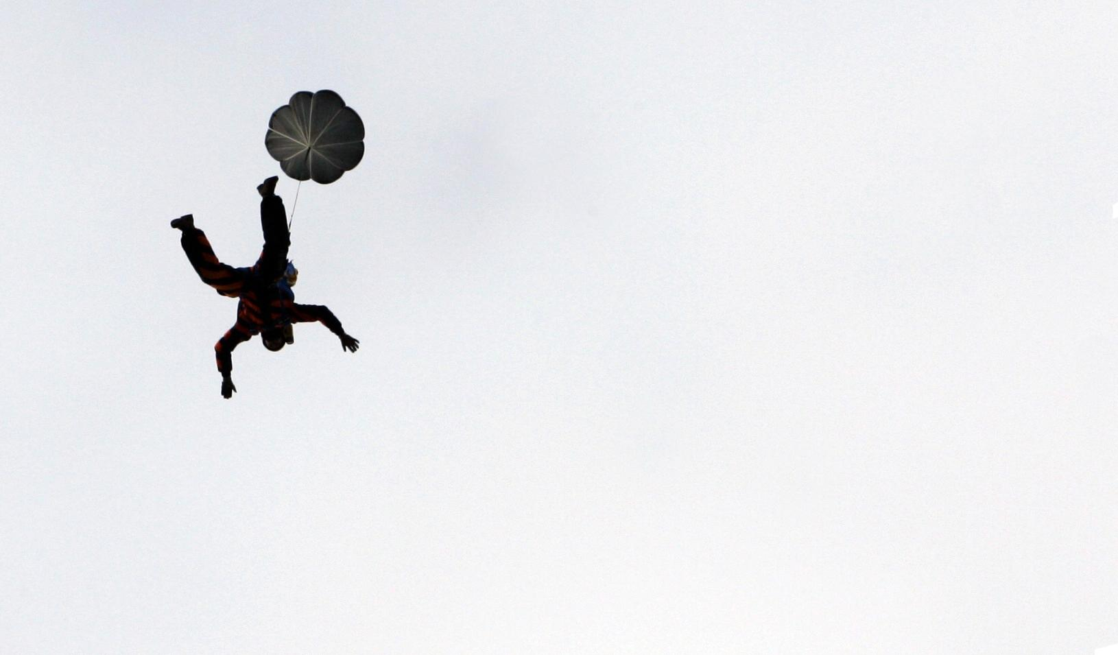 Man parachuting