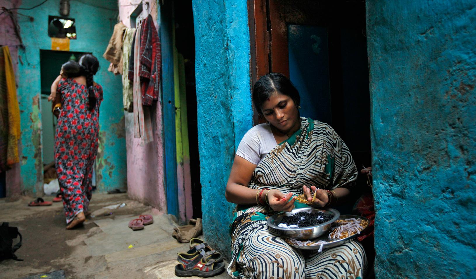 A woman in Mumbai