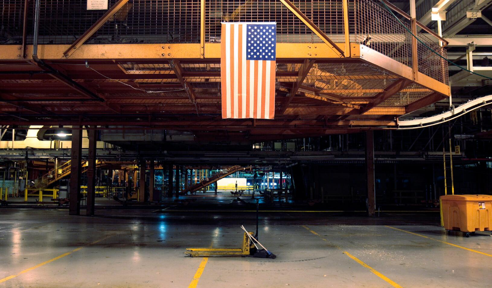 The production line sits permanently shut-down, Credit: Reuters/Rebecca Cook