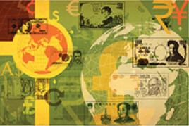 Illustration of global currency