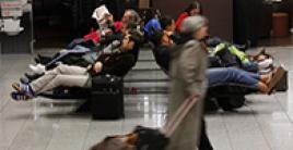 People waiting at the airport