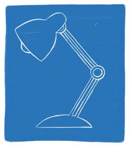 An illustration of a lamp