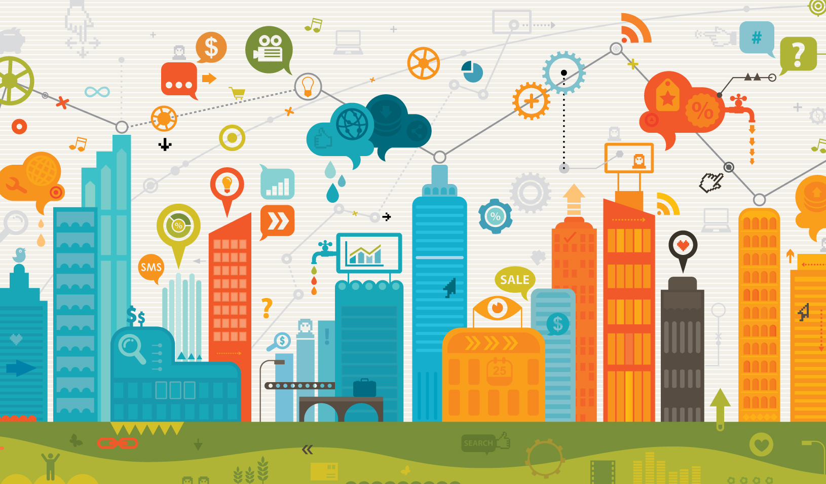 Illustration of the Internet of Things | iStock/DrAfter123