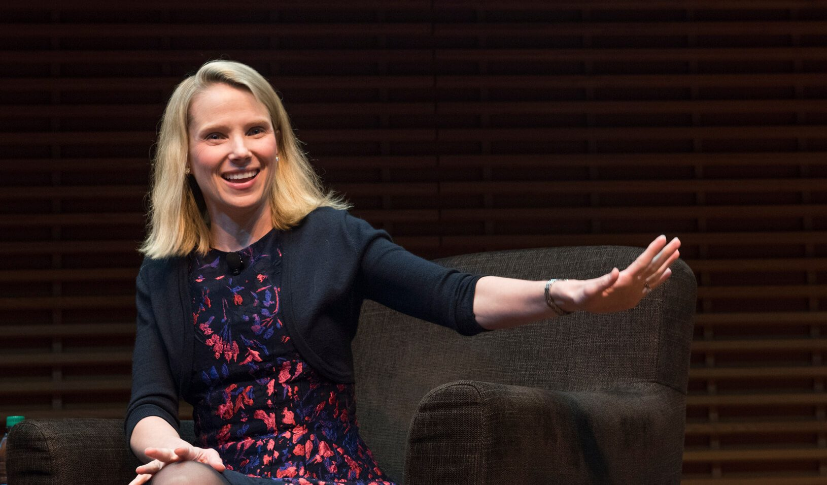 Marissa Mayer speaking at View from the Top | Kiefer Hickman