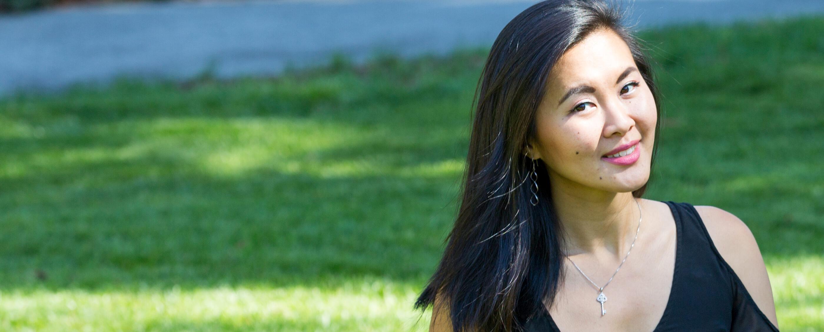"Xu Hua ""Becky"" Fu, PhD '17. Credit: Kiefer Hickman"