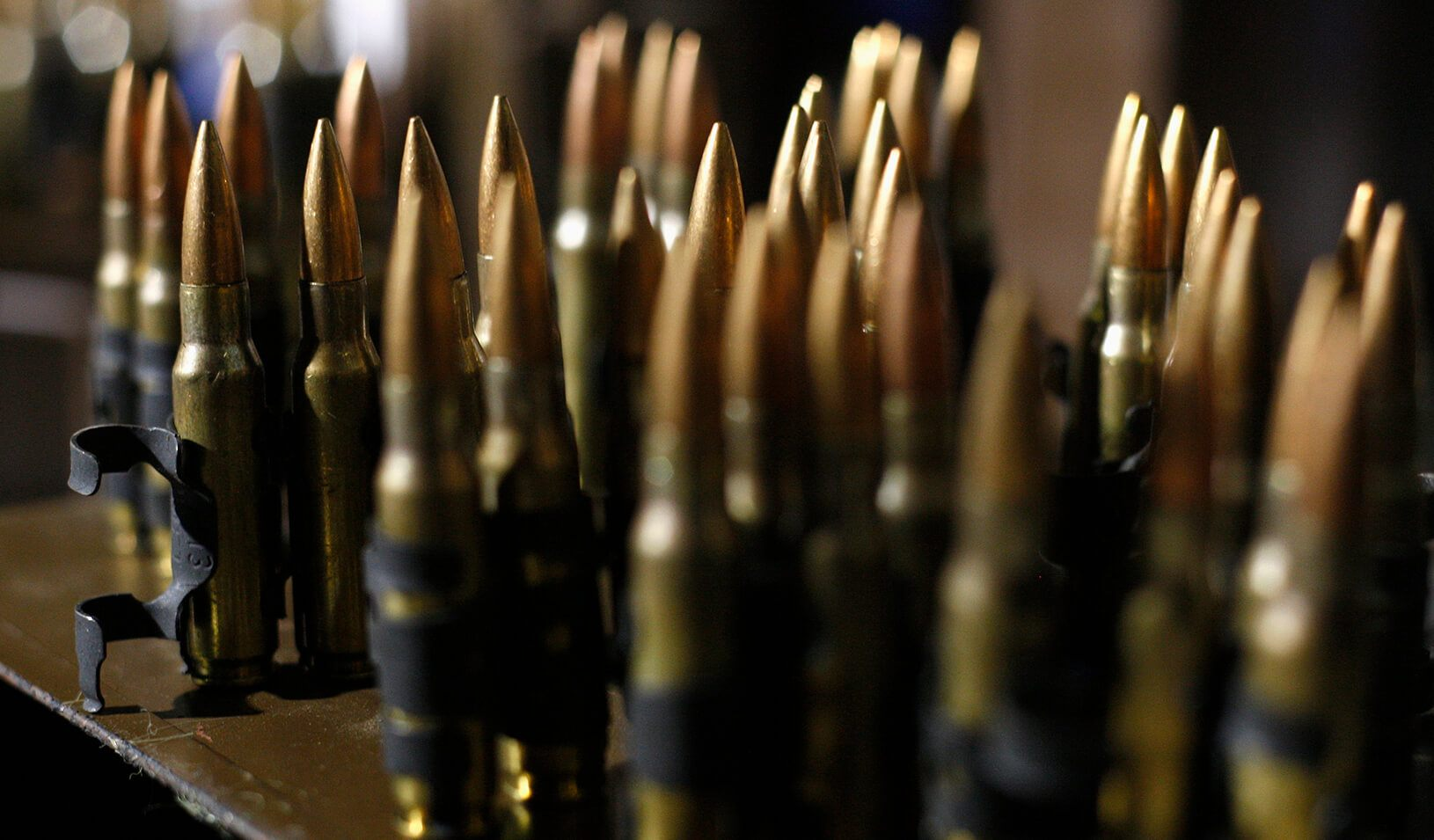 Seized ammunition is displayed at a customs facility. | Reuters/Jose Luis Gonzalez