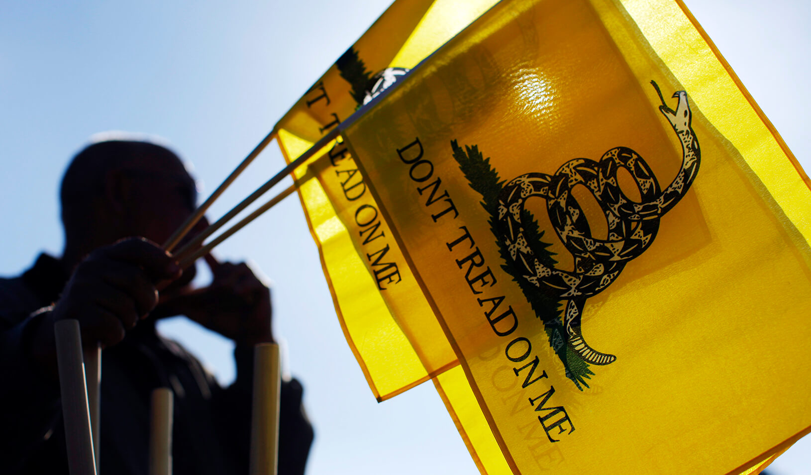 A vendor selling Tea Party flags | Reuters/Brian Snyder